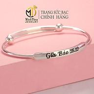 Lắc tay bạc khắc tên cho bé, vòng tay bạc bé trai bé gái trang sức bạc ta Minh Thoa JEWELRY thumbnail