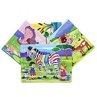 Bộ 4 tấm tranh xếp hình 30 mảnh ghép khổ A4 , Đồ chơi ghép hình cho bé , Đồ chơi trí tuệ cho bé từ 3 tuổi. Tia Sáng Việt Nam. Chất liệu Giấy cứng.Chứng nhận hợp quy tên loại xếp hình số mảnh ghép lên đến 250 mảnh. thumbnail