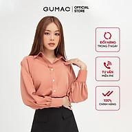 Áo sơ mi nữ tay raglan GUMAC đồ công sở thanh lịch AB413 thumbnail