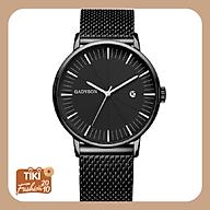Đồng hồ nam GADYSON dây thép lưới có lịch ngày cao cấp mẫu MỚI năm nay thumbnail