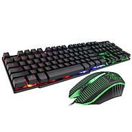 Bộ phím chuột gaming giả cơ đèn nền có dây USB MK-680 - chính hãng thumbnail