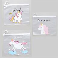 Combo 3 Túi Đựng Bút viết Zip Unicorn thumbnail