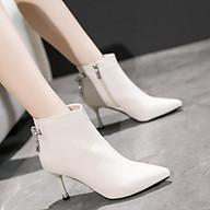 Bốt nữ giầy da cao cấp, chuỗi đá đính gót siêu sang chảnh full hộp sịn sò - Thời Trang PKT thumbnail