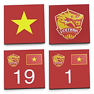 Bộ 4 Lót Ly Vuông Mika - U23VN thumbnail