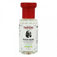 Nước hoa hồng không cồn THAYERS Witch Hazel Aloe Vera Formula Alcohol-Free Toner - Cucumber 89ml (Mini Size) thumbnail