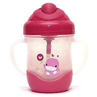 Bình uống nước ống hút có tay cầm 200ml màu hồng - KU5452H thumbnail