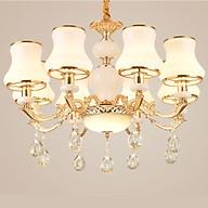 Đèn trần - đèn chùm - đèn trang trí pha lê mang phong cách Châu Âu (Loại 8 bóng) thumbnail