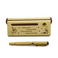 Bộ bút gỗ cao cấp tặng người yêu - mẫu 01 (Kèm hộp đựng sang trọng) thumbnail