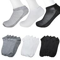 [TẤT 4 MÙA- THÔNG HƠI] Combo gồm 5 đôi tất vớ nam nữ unisex mềm mại thông hơi kháng khuẩn freesize thumbnail