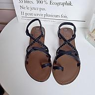Sandal phong cách la mã quai chéo răng cưa xỏ ngón đi chơi biển thumbnail