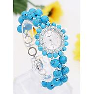 Đồng Hồ Nữ Đá Ngọc Lam (Turquoise) DHN18 Bảo Ngọc Jewelry thumbnail