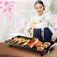 Bếp Nướng Điện Không Khói Mặt Chống Dính Cao Cấp Công Nghệ Hàn Quốc Làm Nóng Bếp Chưa Đến 1 Phút - Hàng chính hãng thumbnail