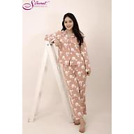 Bộ đồ dài tay mùa thu đông Sweeten your life chất liệu cotton họa tiết cừu trắng nền hồng vỏ đỗ thumbnail