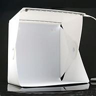 Hộp chụp sản phẩm mini 24cm x 24cm tích hợp 2 đèn Led 6 màu phông nền thumbnail