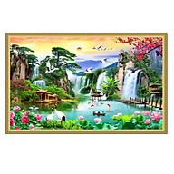 Tranh dán tường phong thủy Lưu Thủy Sinh Tài - Tiền Vô Như Nước NewTM-0142K thumbnail