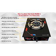 Bếp Gas Đơn Mặt Kính Seika SKB011 - Hàng Chính Hãng thumbnail