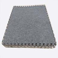 Combo 4 tấm xốp ghép, mặt thảm nỉ kích thước 40cm x 40cm x 0,6cm tấm màu xám sáng thumbnail