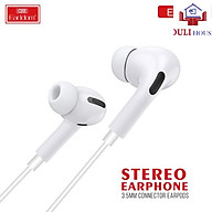 Tai nghe nhét tai - Hàng chính hãng, âm thanh chất lượng tốt, kết nối âm thanh 3.5mm, màu trắng sang trọng, tinh tế thumbnail