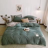 Bộ 4 món chăn ga gối cotton Tici cao cấp TC45 hàng đẹp (set gồm 1 ga, 1 chăn có khóa lồng được ruột, 2 vỏ gối) thumbnail