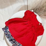 Đồ bộ mặc ở nhà, đi học cho bé gái siêu mát, chất đũi tơ hàng cao cấp thumbnail