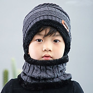 Mũ len - mũ len kèm khăn cho bé từ 2 đến 14 tuổi thumbnail