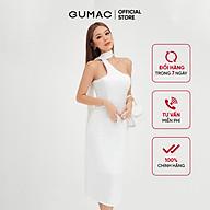 Đầm ôm nữ cúp ngực dây cổ GUMAC màu trắng ôm body quyến rũ DB472 thumbnail