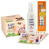 Bộ Sản Phẩm Vệ Sinh Răng Miệng cho Trẻ Sơ Sinh từ 0 Tháng Nước rơ Lưỡi Wesser Gạc Vệ Sinh Răng Miệng cho Bé thumbnail