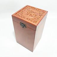 Hộp đựng chè gỗ HƯƠNG Chữ PHÚC VUÔNG UK WOOD thumbnail