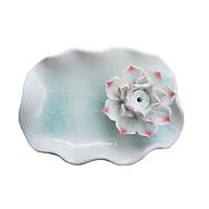 Đĩa đế cắm trầm handmade gắn hoa bằng gốm cao cấp DDT15 thumbnail