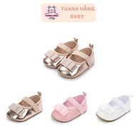 Giày Tập Đi Cho Bé Gái , Giày Trẻ Em Nơ Xinh Cho Bé Thanh Hằng Baby Từ 11 - 13 Cm thumbnail