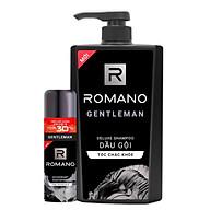 Combo Romano Gentleman Dầu gội 650ml +Xịt khử mùi tặng 30% dung tích chai 195m thumbnail