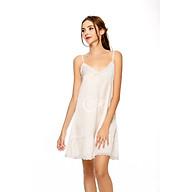 Dreamy VS15 Váy Ngủ Lụa Hai Dây Cao Cấp Dáng Suông Phối Ren Nhúng Bèo Gợi Cảm thumbnail