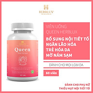 Viên uống tăng nội tiết tố nữ Queen Herblux, làm đẹp da, giảm nám, điều hòa kinh nguyệt thumbnail