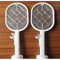 Vợt bắt muỗi kiêm đèn bắt côn trùng cao cấp NY21( tặng 2 móc dán tường trong suốt) thumbnail