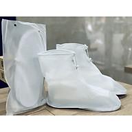 Bọc giày đi mưa chất liệu nhựa dẻo đế bằng cao su chống trơn trượt tiện lợi thumbnail