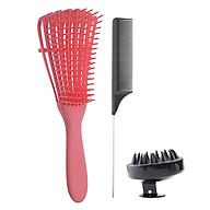 Bộ lược chống rối tóc bằng thép không rỉ massage da đầu cho tóc ướt và khô thumbnail