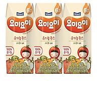 Combo 2 lốc nước ép trái cây hữu cơ 125ml nhập khẩu Hàn Quốc dành cho bé từ 6M (nhiều vị lựa chọn) thumbnail