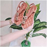 sandal nữ thổ cẩm đính hoa đi biển thumbnail