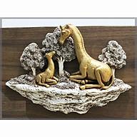Tượng gia đình hươu cao cổ treo tường thumbnail