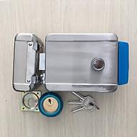 Khóa cổng điện tử độc lập dùng chìa cơ, mở cửa từ xa dùng nút nhấn thumbnail