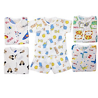 Combo 5 Áo Cotton Giấy Cúc Cài Giữa Cho Bé thumbnail