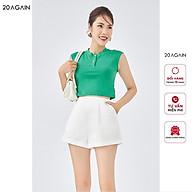 Áo phông nữ croptop sát nách 20AGAIN vải cotton co giãn, thiết kế croptop trẻ trung, năng động ATA1613 thumbnail