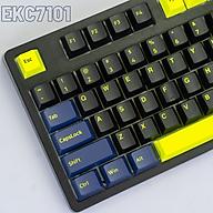 Bộ Keycaps E-Dra Night Runner PBT Doubleshot 1.5mm - Cherry Profile - 166 nút tương thích mọi Layout (Xanh-Đen) EKC7101 thumbnail