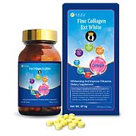 Thực phẩm bảo vệ sức khỏe Fine Collagen Q Ext White ( Viên uống hỗ trợ bổ sung Collagen kết hợp Glutathione giúp da trắng sáng và tươi trẻ ) thumbnail