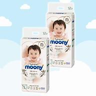 Combo 2 Bỉm - Tã dán Moony Natural size L 38 miếng (Cho bé 9 - 14kg) thumbnail