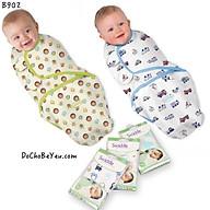 Ủ kén, khăn quấn Summer 100% cotton cho bé sơ sinh từ 0-3 tháng thumbnail