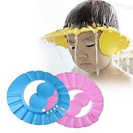 Mũ xốp chắn nước vào tai, vào mắt cho bé khi gội đầu,cắt tóc thumbnail