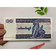 Tiền hình con Lân ( Tỳ Hưu )Myanmar giá rẻ - vật phẩm phong thủy - tặng phơi nylon bảo quản tiền thumbnail