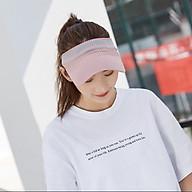 Mũ che nắng kiểu không chóp in chữ xinh xắn cho nam nữ, nón thể thao chạy bộ nửa đầu có co dãn nhiều màu - Smice House thumbnail