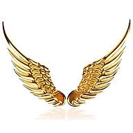 Logo Cánh Chim Ưng 3D Dán Cho Các Loại Xe Ô Tô Màu Vàng thumbnail